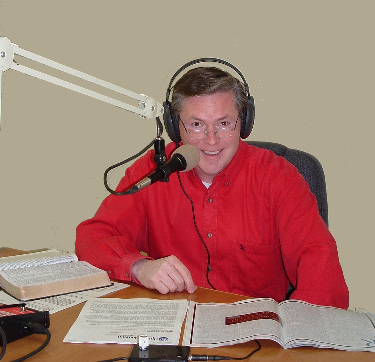 Pastor Jim Wood in Studio